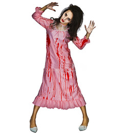 $enCountryForm.capitalKeyWord UK - New Halloween Ghost Festival Costume Gothic Costume Female Adult Bloody Killer Long Dress Pajama Set Cosplay Horror Bride