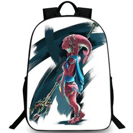 Mipha backpack Zora Mermaid school bag The Legend of Zelda daypack 600D  nylon schoolbag Outdoor rucksack Sport day pack 4b0e6512e7