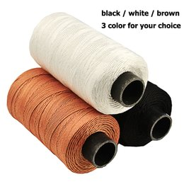 Shoes Repair Australia - Sewing Threads 985ft 300M Durable Strong Bounded Nylon Leather Sewing Waxed Thread for Craft Repair Shoes black   white   brown