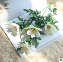 Wholesale Artificial Coreopsis Floral Fake Silk Garden Cosmos Flower Plant for Home Decor Colorful Wild Rose for Shopping Mall Hotel Camera Props
