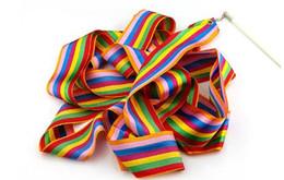 $enCountryForm.capitalKeyWord NZ - 4m dance ribbon gym art gymnastic Multicolour ballet streamer twirling long rod kids toys new gift dancing game