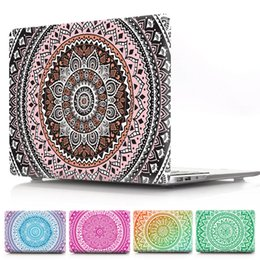 Imac Macbook Australia - Mandala Flower PC Case For Macbook Air Pro Retina 11.6 12 13.3 15.4inch Front and Back Cover For iMac