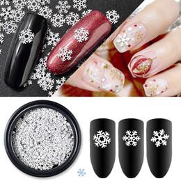 snow nails 2019 - Nail Decorations Snowflake Charm Christmas Nails Art Snow Nail Decor Glitter Thin Manicure Patch DIY Decorations UV Beau
