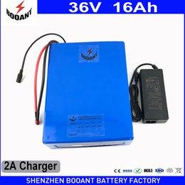 Bateria de Bicicleta elétrica 36 v 16Ah 800 w PVC Caso com 42 v 2A Carregador Construído em 30A Bateria de iões de Lítio De BMS 36 v Frete Grátis venda por atacado