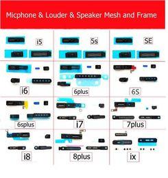 $enCountryForm.capitalKeyWord Australia - 100Pcs  Set Louder & Speaker & Microphone Anti Dust Mesh and Frame For iPhone 5 5s 6 6s 6plus 6splus 7 8 7plus X Dust Filter Repair Parts