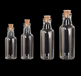 Discount glass bottle 35ml - Creative 12ml 15ml 25ml 35ml DIY Cute Small Beer Bottles Cork Stopper Glass Vial Jars Containers Bottle Drift Bottle Wis