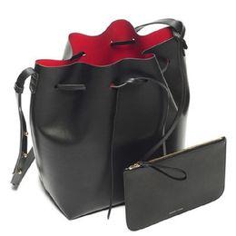 China Luxury Designer Bucket bag Women Leather Wide Color Strap Shoulder bag Handbag Large Capacity Crossbody bag girls Drawstring supplier drawstring handbags suppliers