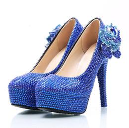 0a25450129c208 Blue monster blue water diamond crystal wedding shoes high heel water drill  waterproof platform and bridal shoe bridesmaid wedding dress sho