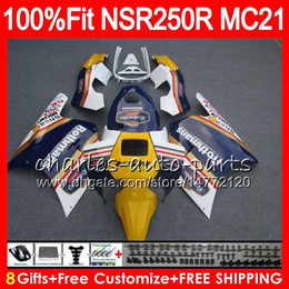 blue rothmans honda fairings NZ - Injection For HONDA NSR 250 R MC21 PGM3 NSR250R Rothmans Blue 90 91 92 93 84HM.4 NSR250 R RR NSR 250R NSR250RR 1990 1991 1992 1993 Fairing