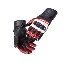 Discount gloves motorcycle motorbike - New model Motorcycle leather gloves Racing Gloves  Riding Gloves Motorbike Gloves
