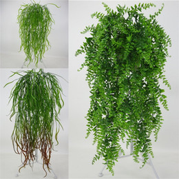 China Fake Artificial Plants Fashion Plastic Simulation Wall Hanging Plant For Home Hotel Party Decoration Decor Flower Vine Accessorie 7 6yy UU cheap flowering vine plants suppliers