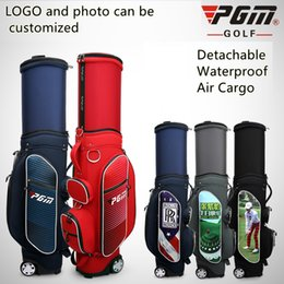 Wholesale PGM Golf travel wheels stand caddy airbag flight aviation Multi function high capacity golf cart bag staff customized bags