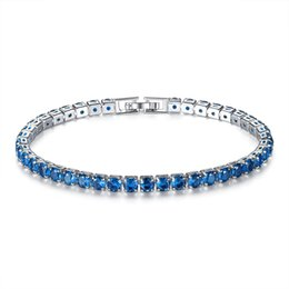 Wholesale shining costume resale online - New K White Gold Plated MM Wide Shining CZ Cluster Tennis Bracelet Fashion Party Costume Jewelry Bijoux for Women Lady
