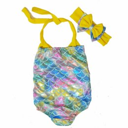 $enCountryForm.capitalKeyWord UK - Girls Swimwear Bathing Suit Beach 2018 Summer Brand Baby Girls Infant Swimsuit Cartoon Mermaid Costume Toddler Swimwear 2-7Y