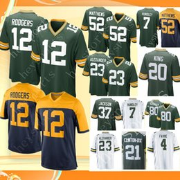 7ab259bcaa8 Green Bay 12 Aaron Rodgers Packers 17 Davante Adams Jersey Mens 52 Clay  Matthews 80 Jimmy Graham 23 Alexander 4 Favre 7 Hundley jerseys