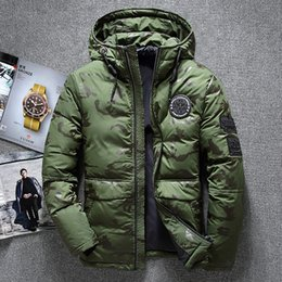 snow jackets 2019 - New Winter Warm White Duck Downs Jacket Men Outwear Thick Snow Parkas Hooded Coat Male Casual Thermal Windproof Downs Ja