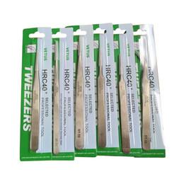 Venta al por mayor de Vetus Suiza Pinzas 1.5mm Precisión de Acero Inoxidable Pinzas Maquillaje Nipper Curvado Recto Herramientas de Reparación de Teléfono Con el paquete