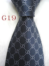 Mens wedding neckwear online shopping - Mens Classic Silk Polyester Ties for Mens Neckwear Business Skinny Grooms Necktie for Wedding Party Suit Shirt Tie G019