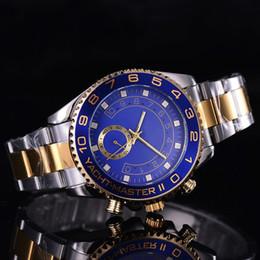 Brand Luxury Style Watch Australia - New Style Luxury Watch Brand Yacht 116680 Model 44mm Men Wristwatch Steel Strap Quartz Movement Relogio Masculino