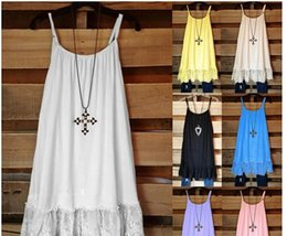 Lace crochet bLouses online shopping - Sexy Beach Vintage Sweet Casual Crochet Solid Hollow Lace Camis Slim Bohemia Tank Top Tee Blouse For Women