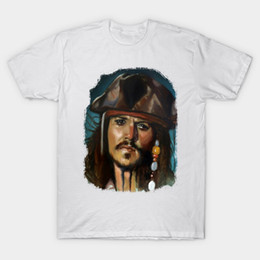 Chinese  Captain Jack Sparrow T-Shirt pirate of caribbean manufacturers