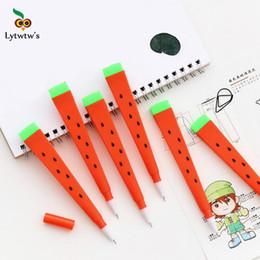 $enCountryForm.capitalKeyWord Canada - 3 Piece Lytwtw's Korean Stationery Cartoon Cute Watermelon Pen Advertising Creative Bent School Office Gel Pens Gift