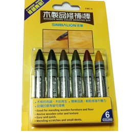 $enCountryForm.capitalKeyWord NZ - 6pcs Simbalion Wood and Floor Color Mending Crayon Pen Repair Restore The Material of Furniture House