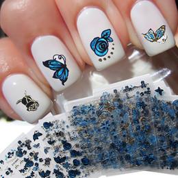 $enCountryForm.capitalKeyWord Australia - 24 Pcs Set Fashion Butterfly Flower 3D Nail Art Transfer Foils Sticker Removable Nails Art Decals Beauty Nail Decorations