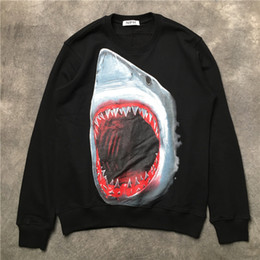 Bape shark jacket online shopping - 2018 Autumn winter New fashion brand D  shark printing pullover f06255f77