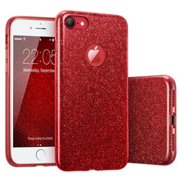 Iphone S6 Glitter NZ - 3 in 1 Hybrid Bling Glitter TPU Silicone PC Case For iPhone X 8 7 6 5 SE Samung S5 S6 S7 Edge S8 S9 Plus Note Note8 LG MOTO Huawei OPPO