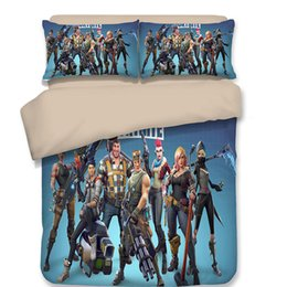 Beds Quilts Australia - Boutique Fortnite Bedding Sets Cartoon printed quilt cover pillowcase set 3D printing A variety of sizes to choose from 2336