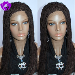 $enCountryForm.capitalKeyWord Australia - Hotselling african americans synthetic braided lace front wigs 200 density full kinky twist lace wigs full hand short braided wig tip curly
