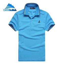 Discount sports polo shirts wholesale - 2018 Summer Football Basketball Loose Shirts Short Sleeve Outdoor Sport Polo Shirt Men Outdoor Shirt Quick Dry Hiking T