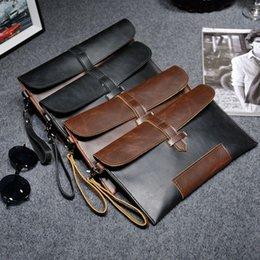 Yeni stil erkekler çanta vintage casual erkek çanta ile kişilik tasarım el kavrama çantası deri cep telefonu çantası