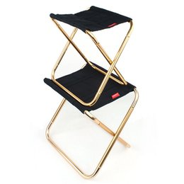 Wholesale 2 Size Outdoor Portable Folding Camping Chair Aluminum Alloy Chair Family BBQ Stool Fishing High Quality NNA270