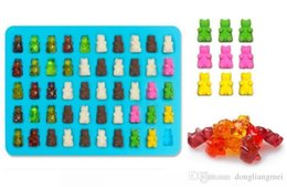 $enCountryForm.capitalKeyWord Australia - Food Grade Silicone DIY Candy Gummie Bear Making Gelatin Maker Fishing Lures Cupcake topper Chocolate Making Ice tray with dropper wn067
