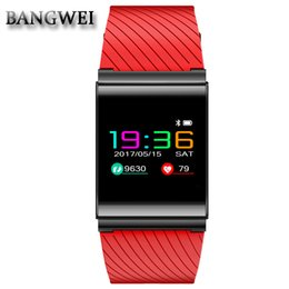 Discount facebook smart watch - BANGWEI information reminder support Facebook Twitter network social fitness sports smart watch blood pressure heart rat