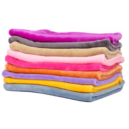 China Hot 3 specifications candy color pet coral wool blanket super soft warm cotton towel pet blanket mat suppliers