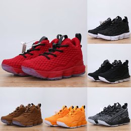 d278990c606 2018 Children s Ashes Ghost LeBron 15 Basketball Shoes Sneakers Red Black  Lebrons Boys Training Arrival Sports Trainer Shoe James Size 28-35