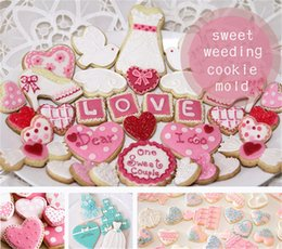 Heart Shaped Cutters Australia - Wholesale- 1 pcs Imperial Crown Tie Candy Double Heart Shape cookie mold Stainless Steel Weeding Series Cookie Cutter Baking Mousse Ring