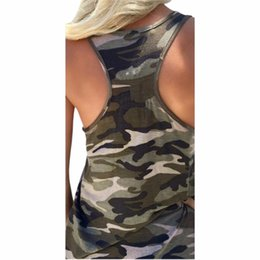 camouflage vest top women 2019 - Camouflage Print T Shirts 2018 Tank Tops Summer Beach Sleeveless Tees Tank Vest T-shirt Casual Shirts Women Top Plus Siz