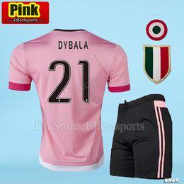 a746c1d30 Juventus Pink DYBALA Soccer Jerseys Kits Retro CHIELLINI POGBA MARCHISIO  Pirlo Higuain Alex Sand Adult Sets Football Shirts JUV Uniform