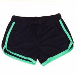 $enCountryForm.capitalKeyWord Canada - Women Sports Yo-Ga Shorts Loose Cotton Binding Side Split Elastic Waist Drawstring Running Short Pants