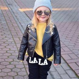 $enCountryForm.capitalKeyWord Canada - pudcoco 2-7T 2017 New Kids baby Girl Fashion Motorcycle PU Leather Jacket Biker Coat Overcoat Black clohes bebe coat