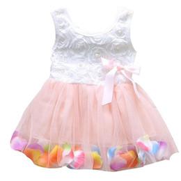 d7266f4c6 2018 Summer Colorful Mini Tutu Dress Sleeveless Petal Hem Floral Clothes  Mesh A-Line Princess Baby Dresses 6 Colors Rapunzel