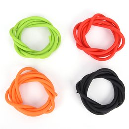 $enCountryForm.capitalKeyWord Australia - New 1m Elastic Slingshot Rubber Tube Outdoor Natural Latex Stretch Replacement Band Catapults Sling Rubber 1.7x4.5mm 4 Color