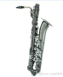 Marque Baryton Saxophone De Haute Qualité En Bois Instruments De Musique En Laiton Corps Plaqué Nickel Surface Avec Étui Pour Musique Jazz en Solde
