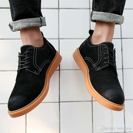 office boxes 2018 - With Box High quality Men Casual Shoes Suede Leathern breathable Flats Lace Up Oxfords Shoes New Low Social Chaussure ch