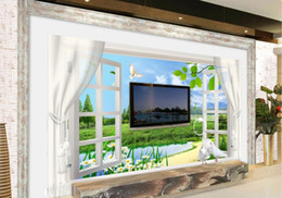 $enCountryForm.capitalKeyWord Australia - 3d wallpapers bathroom Small Town Spring 3D Window Curtains Butterfly Chrysanthemum TV background wall