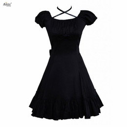 $enCountryForm.capitalKeyWord UK - S-XXL Hot Selling Casual Birthday Party Cosplay Costume Dress Ainclu Womens Classic Black Lolita Dress Cotton & Ruffles